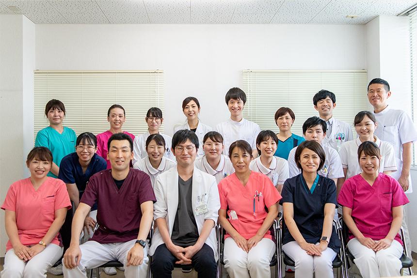 多職種からなる当院ハートチームのスタッフ